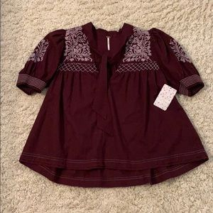Free People beautiful top. New with tags.